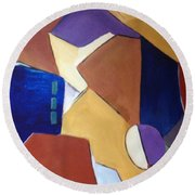 Abstract Square  Round Beach Towel