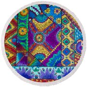Abstract Study 2 Round Beach Towel