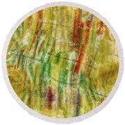 Round Beach Towel featuring the digital art Abstract Sunday by Deborah Benoit