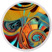Abstract Swirls Round Beach Towel