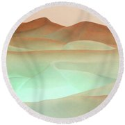 Abstract Terracotta Landscape Round Beach Towel