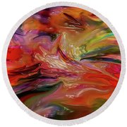 Abstract-the Wild Of The Sea Round Beach Towel
