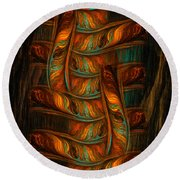Abstract Totem Round Beach Towel