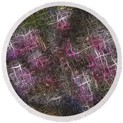 Abstract Tulip Round Beach Towel