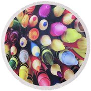 Abstract Two Round Beach Towel