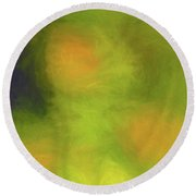Abstract Untitled Round Beach Towel