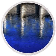 Abstract Water Round Beach Towel