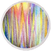 Abstract Watercolor A2 1216 Round Beach Towel