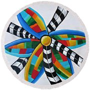 Abstract Windmill  Round Beach Towel