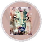 Round Beach Towel featuring the painting Abstract Young Man #2 by Raymond Doward