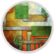 Abstraction 2 Round Beach Towel