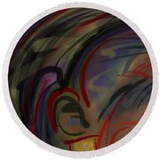 Fro Abstraction 2 Round Beach Towel