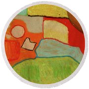 Abstraction123 Round Beach Towel