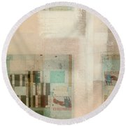 Round Beach Towel featuring the digital art Abstractitude - C01b by Variance Collections