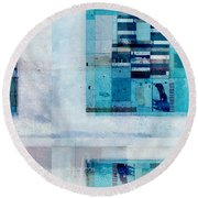 Round Beach Towel featuring the digital art Abstractitude - C02v by Variance Collections