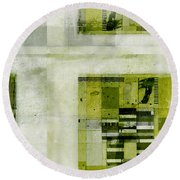 Round Beach Towel featuring the digital art Abstractitude - C4bv2 by Variance Collections