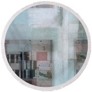 Round Beach Towel featuring the digital art Abstractitude - C7 by Variance Collections