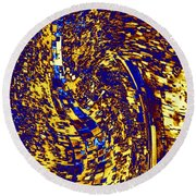 Round Beach Towel featuring the digital art Abstractmosphere 3 by Will Borden