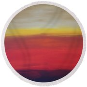 Abstract_sunset Round Beach Towel