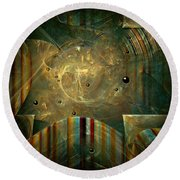 Abstractus Round Beach Towel