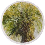 Abundance Tree Round Beach Towel