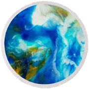 Abyss  Round Beach Towel