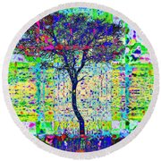 Acacia Tree Round Beach Towel