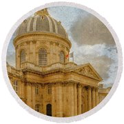 Paris, France - Academie Francaise Round Beach Towel