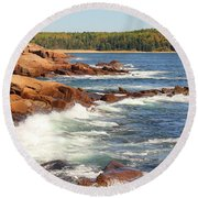 Acadia Coast  3145 Round Beach Towel