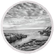 Acadia Coast Round Beach Towel