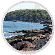 Acadia Cove Round Beach Towel