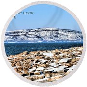 Round Beach Towel featuring the photograph Acadia National Park by Debbie Stahre