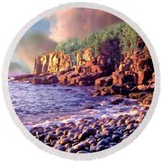 Acadia National Park Round Beach Towel