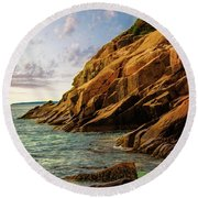 Acadia National Park--maine Round Beach Towel by Sherman Perry
