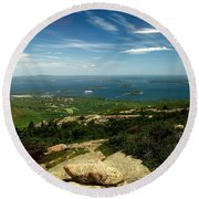 Round Beach Towel featuring the photograph Acadia by Raymond Earley