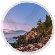 Round Beach Towel featuring the photograph Acadia by Sharon Seaward