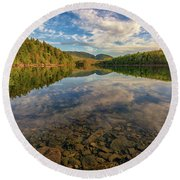 Acadian Reflection Round Beach Towel