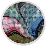 Accident Waiting To Happen Round Beach Towel by Kathie Chicoine