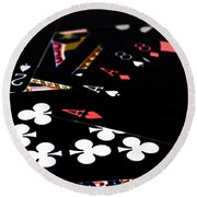 Aces And Eights Round Beach Towel