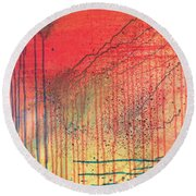 Acid Rain Round Beach Towel
