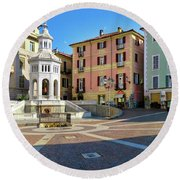 Acqui Terme...italy Round Beach Towel