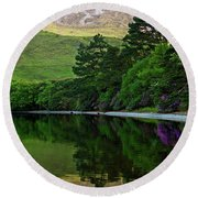 Round Beach Towel featuring the photograph Across From Kylemore Abbey by Patricia Griffin Brett