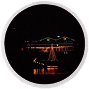 Across The Lake Round Beach Towel by Rick Friedle