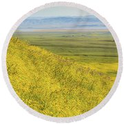 Round Beach Towel featuring the photograph Across The Plain by Marc Crumpler