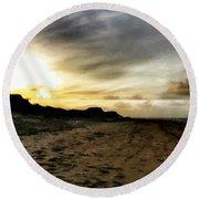 Across The Sands Round Beach Towel