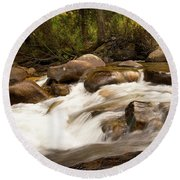 Across The St. Vrain Round Beach Towel
