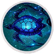 Across The Universe Round Beach Towel by Leanne Seymour