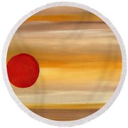 Acrylic Abstract Painting Sunny Day Round Beach Towel