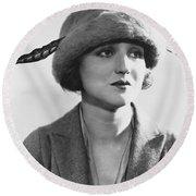 Actress Agnes Ayres Round Beach Towel
