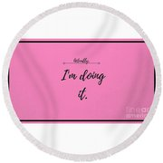Actually Round Beach Towel
